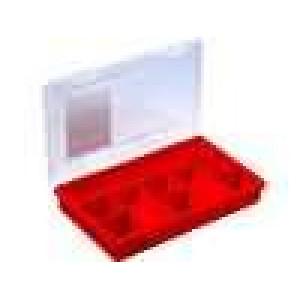 Zásobník - krabička s přihrádkami 290x185x46mm červená