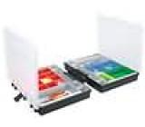 Zásobník - krabička se zásobníky 370x295x112mm černá