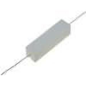 Rezistor drátový tmelený THT 75R 15W ±5% 48x13x13mm