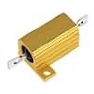 Rezistor drátový s radiátorem přišroubováním 75R 15W ±5%