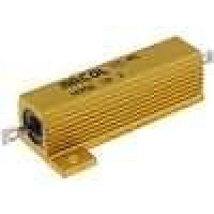 Rezistor drátový s radiátorem přišroubováním 1R 50W ±5%