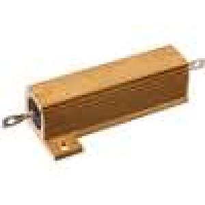 Rezistor drátový s radiátorem přišroubováním 2,5R 50W ±5%