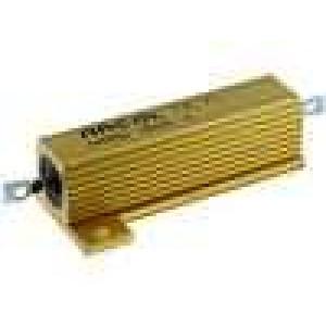 Rezistor drátový s radiátorem přišroubováním 50R 50W ±5%