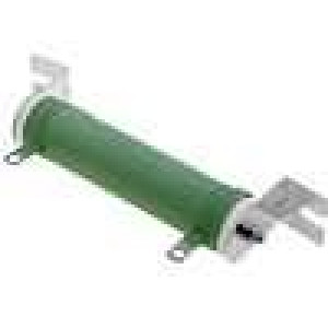 Rezistor drátový 10R 80W ±5% Ø31x115mm 400ppm/°C konektor očka