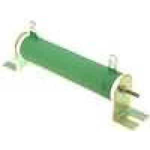 Rezistor drátový 100R 50W ±5% Ø25x120mm 200ppm/°C konektor očka