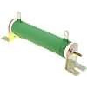Rezistor drátový 2,2R 50W ±5% Ø25x120mm 200ppm/°C konektor očka