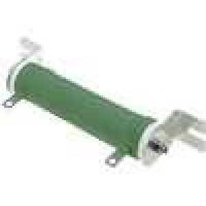 Rezistor drátový 10R 100W ±5% Ø31x140mm 400ppm/°C konektor očka