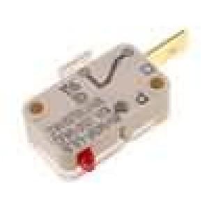 Mikrospínač bez páčky SPST-NC 10A/250VAC ON-(OFF) 1-polohové
