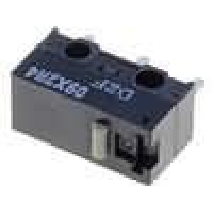 Mikrospínač bez páčky SPDT 3A/125VAC 2A/30VDC ON-(ON) IP40