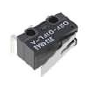 Mikrospínač s páčkou SPDT 0,1A/30VDC ON-(ON) 1-polohové IP40