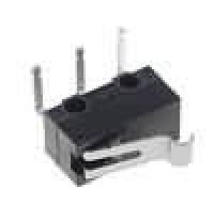 Mikrospínač s páčkou simulující kladku SPDT 0,1A/30VDC IP40