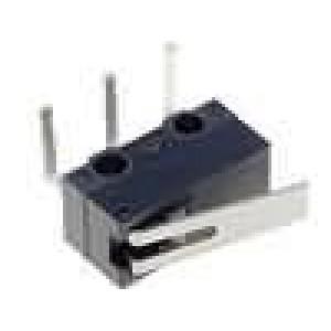 Mikrospínač s páčkou SPDT 3A/125VAC 2A/30VDC ON-(ON) IP40