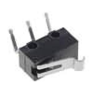 Mikrospínač s páčkou simulující kladku SPDT 3A/125VAC IP40
