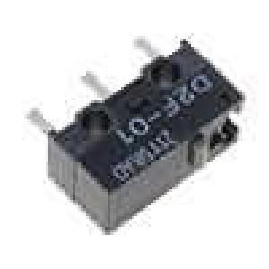 Mikrospínač bez páčky SPDT 0,1A/30VDC ON-(ON) 1-polohové