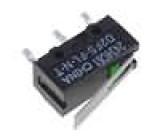 Mikrospínač s páčkou SPST-NO 0,1A/6VDC OFF-(ON) 1-polohové