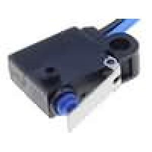 Mikrospínač s páčkou SPST-NO 0,1A/125VAC 2A/12VDC OFF-(ON)