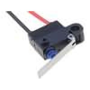 Mikrospínač s páčkou SPST-NC 0,1A/125VAC 2A/12VDC ON-(OFF)
