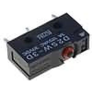 Mikrospínač bez páčky SPDT 3A/125VAC 3A/30VDC ON-(ON) IP67