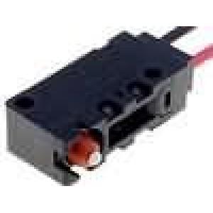 Mikrospínač bez páčky SPST-NC 0,1A/125VAC 0,1A/30VDC IP67