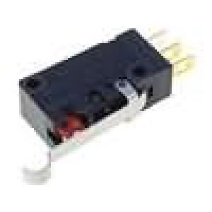Mikrospínač s páčkou simulující kladku SPDT 0,1A/125VAC IP67