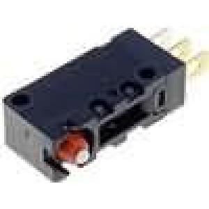 Mikrospínač bez páčky SPDT 5A/250VAC 5A/30VDC ON-(ON) IP67