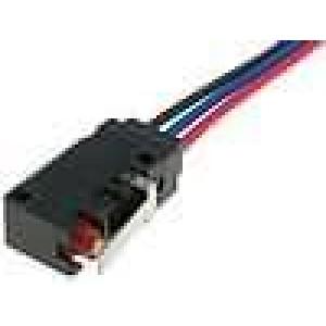 Mikrospínač s páčkou SPDT 5A/250VAC 5A/30VDC ON-(ON) IP67