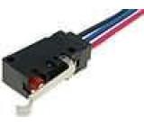Mikrospínač s páčkou simulující kladku SPDT 5A/250VAC IP67