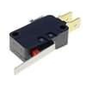 Mikrospínač s páčkou SPDT 16A/250VAC 10A/30VDC ON-(ON) IP40