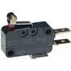 Mikrospínač SNAP ACTION s páčkou (s kladkou) SPDT 16A/250VAC
