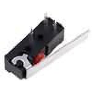 Mikrospínač s páčkou SPDT 1A/250VAC ON-(ON) 1-polohové IP54