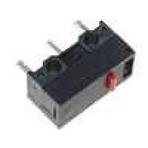 Mikrospínač bez páčky SPDT 1A/250VAC ON-(ON) 1-polohové IP40
