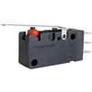 Mikrospínač s páčkou SPDT 0,1A/48VAC 0,1A/250VDC ON-(ON)