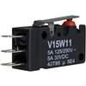 Mikrospínač bez páčky SPDT 0,5A/125VAC 10A/250VDC ON-(ON)