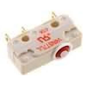 Mikrospínač bez páčky SPDT 5A/250VAC ON-(ON) 1-polohové IP67