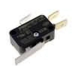 Mikrospínač s páčkou SPDT 12A/250VAC ON-(ON) 1-polohové IP40