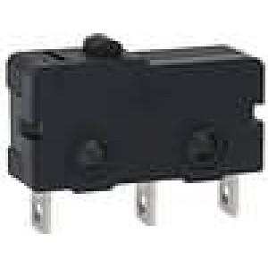 Mikrospínač bez páčky SPDT 5A/250VAC 5A/30VDC ON-(ON) IP40