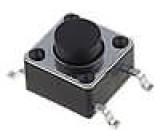 Mikrospínač 1-polohové SPST-NO 0,05A/12VDC SMT 1,6N 6x6mm