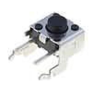 Mikrospínač 1-polohové SPST-NO 0,05A/24VDC THT 0,98N 6x6mm