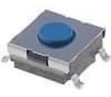 Mikrospínač 1-polohové SPST-NO 0,05A/24VDC SMT 2,55N 6x6mm