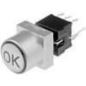 Mikrospínač 1-polohové DPDT 0,1A/30VDC THT LED   1,5N