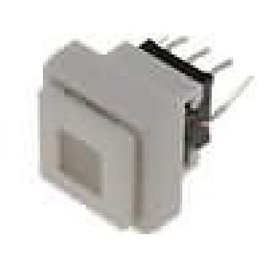 Mikrospínač 1-polohové DPDT 0,1A/30VDC THT LED 1,5N 12,5mm