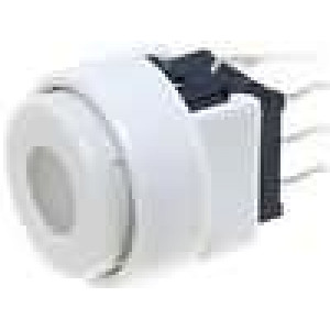 Mikrospínač 2 polohy DPDT 0,1A/30VDC THT LED červená 1,5N