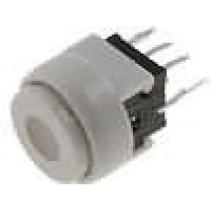 Mikrospínač 1-polohové DPDT 0,1A/30VDC THT LED 1,5N Ø12,5mm