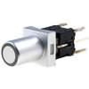 Mikrospínač 1-polohové SPST-NO 0,05A/12VDC THT LED bílá 1,6N