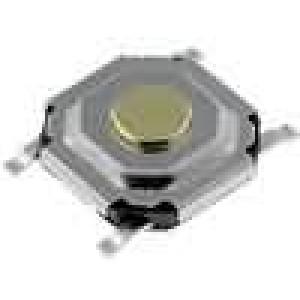 Mikrospínač 1-polohové SPST-NO 0,05A/12VDC SMT 1N 5,2x5,2mm