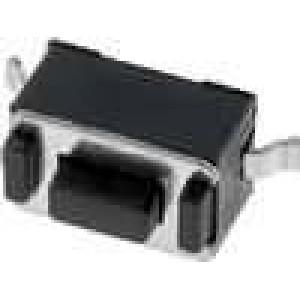 Mikrospínač 1-polohové SPST-NO 0,05A/12VDC SMT 1,6N 3x6mm