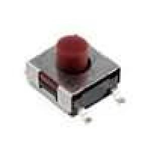 Mikrospínač 1-polohové SPST-NO 0,05A/12VDC SMT 1,6N 5,2mm