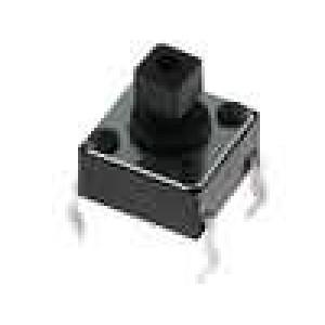 Mikrospínač 1-polohové SPST-NO 0,05A/12VDC THT 1,5N 6x6mm