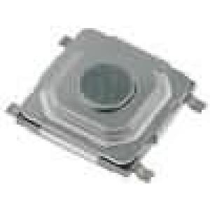 Mikrospínač 1-polohové SPST-NO 0,05A/12VDC SMT 1,6N 1,5mm
