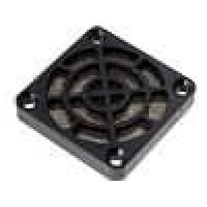 Mřížka s filtrem 40x40mm Mat plast Upevnění zacvaknutí, šroub
